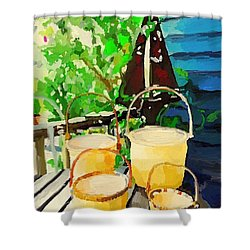 Lightship Baskets And Old Sailboat Windvane Shower Curtain