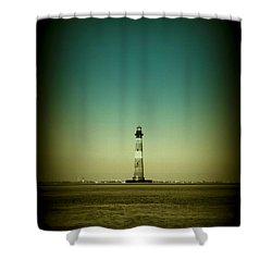 Ligthhouse At Morris Island Sc Shower Curtain by Susanne Van Hulst