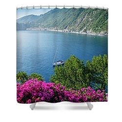 Ligurian Sea, Italy Shower Curtain