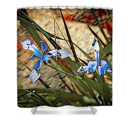 Like Blue Birds Of Happiness Shower Curtain