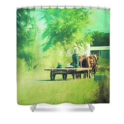 Shower Curtain featuring the photograph Like Father, Like Son by Joel Witmeyer