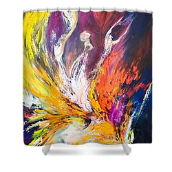 Shower Curtain featuring the painting Like Fire In The Wind by Marat Essex