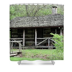 Lil Cabin Home On The Hill  Shower Curtain