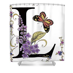 Lilac And Large Tiger Butterfly Shower Curtain