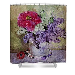 Lilac Bouquet Shower Curtain by Alexis Rotella