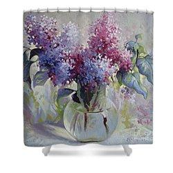 Lilac Bouquet Shower Curtain