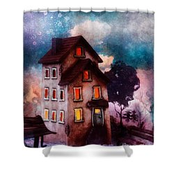Lilac Hill Shower Curtain by Mo T