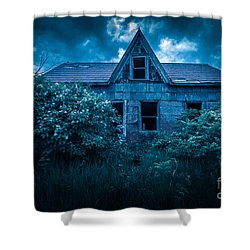 Lilac House Shower Curtain