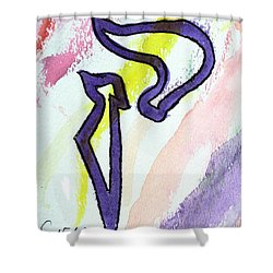 Lilac Kuf Shower Curtain