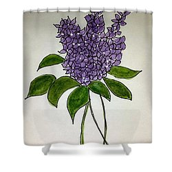 Lilac Posy Shower Curtain