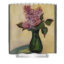 Lilac Reflections Shower Curtain
