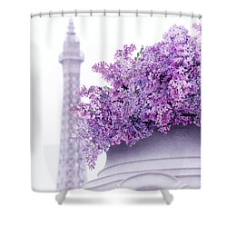 Lilac Tales Shower Curtain by Iryna Goodall