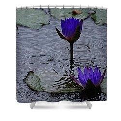 Lilies In The Rain Shower Curtain