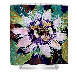 Lilikoi Shower Curtain by Marionette Taboniar