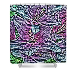 Lillies Shower Curtain by Vickie G Buccini
