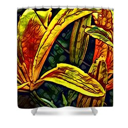Lilly Fire Shower Curtain