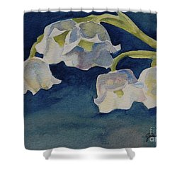 Lilly Of The Valley Shower Curtain by Gretchen Bjornson