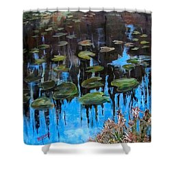 Lilly Pads And Reflections Shower Curtain
