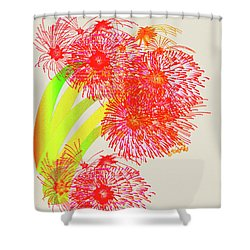 Lilly Pilly Shower Curtain by Asok Mukhopadhyay