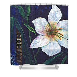 Shower Curtain featuring the painting Lily by Alga Washington