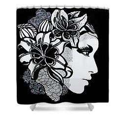 Lily Bella Shower Curtain by Yelena Tylkina