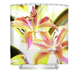 Lily Burst Shower Curtain