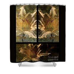 Lily Collage Shower Curtain by Lois Bryan