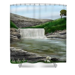 Lily Creek Shower Curtain