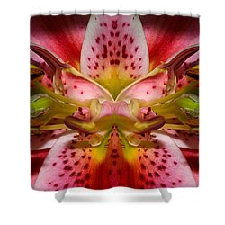 Shower Curtain featuring the photograph Lily Embrace by WB Johnston