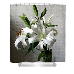 Lily Flower Shower Curtain