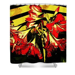 Shower Curtain featuring the digital art Lily Gem by Winsome Gunning