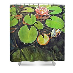 Lily In The Water Shower Curtain