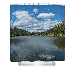 Lily Lake Panorama  Shower Curtain