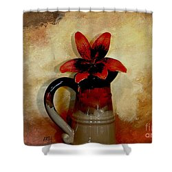 Lily Lovely Shower Curtain by Marsha Heiken