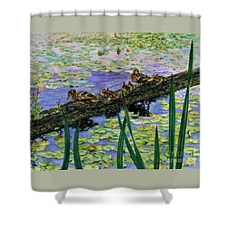 Lily Marsh Family Shower Curtain