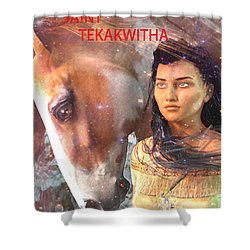 Shower Curtain featuring the painting Lily Of The Mohawks by Suzanne Silvir