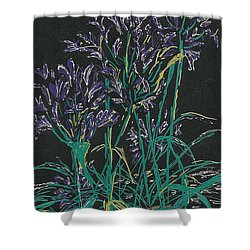 Shower Curtain featuring the mixed media Lily Of The Nile  by Vicki  Housel