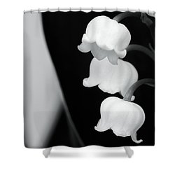 Lily Of The Valley Abstract Shower Curtain