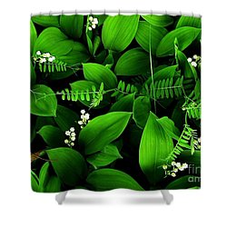 Lily Of The Valley Shower Curtain by Elfriede Fulda