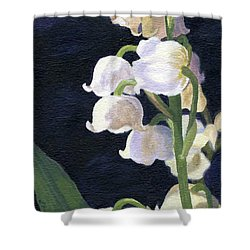 Lily Of The Valley Shower Curtain by Lynne Reichhart