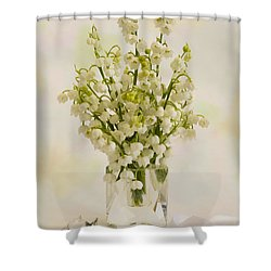 Lily Of The Valley Perfume Shower Curtain