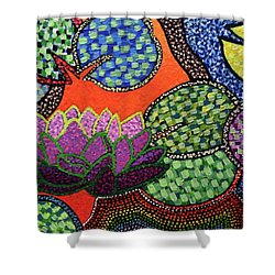 Lily Pad Pizzaz Shower Curtain
