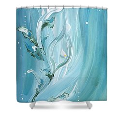 Lily Shower Curtain by Pat Purdy