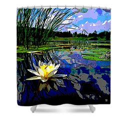 Lily Pond Shower Curtain by Charles Shoup