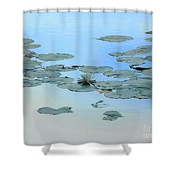 Lily Pond Shower Curtain by Daun Soden-Greene