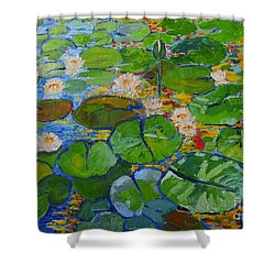 Lily Pond Reflections Shower Curtain by Ana Maria Edulescu