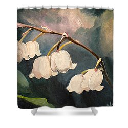Lily Whites Shower Curtain
