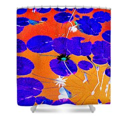 Lilypad Explosion Shower Curtain by Linda Olsen