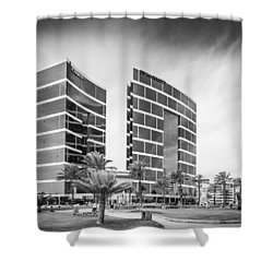 Lima Buildings Shower Curtain
