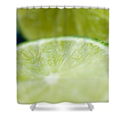 Lime Cut Shower Curtain by Ray Laskowitz - Printscapes